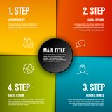 Abstract infographic template with 4 steps royalty free illustration