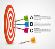 Abstract infographic template target with darts. Vector design Stock Photos