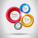 Abstract infographic trendy design, options set. Vector Royalty Free Stock Images