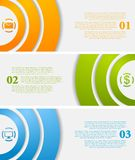 Abstract infographic vector banners Stock Images