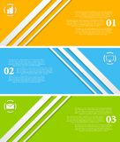 Abstract infographic vector banners Royalty Free Stock Photography