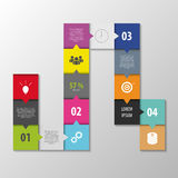Abstract infographic vector. squares style template Stock Image