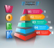 Abstract  Infographic. Work icon. Royalty Free Stock Photos