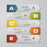 Abstract Infographics arrows banner design elements. 5 step layout template. EPS10 Stock Photo
