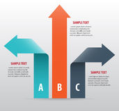 Abstract infographics with arrows. And ribbons. Vector art Stock Photography