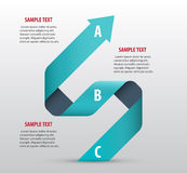 Abstract infographics with arrows. And ribbons. Vector art Royalty Free Stock Photo
