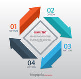 Abstract infographics with arrows Stock Images