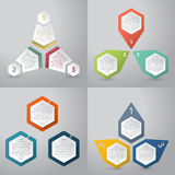 Abstract infographics background with hexagon elements Stock Photography