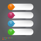 Abstract infographics banner, label, tag designs t Royalty Free Stock Photo