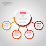 Abstract infographics bedrijfsoptiesmalplaatje Royalty-vrije Stock Foto