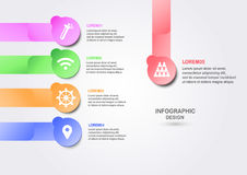 Abstract infographics for business presentation with text space. Stock Photos