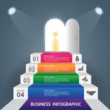 Abstract Infographics business stair step success. Abstract Infographics business stair step success vector design template Royalty Free Stock Image
