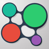 Abstract Infographics Circles. Four abstract infographics circles for text Stock Photos