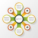 Abstract infographics concept. Modern design template. Vector illustration.  Stock Photography