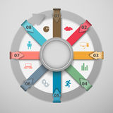 Abstract infographics data pattern of cyclical processes. Royalty Free Stock Image