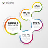 Abstract infographics design template with circles. Vector Stock Photo