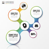 Abstract infographics design template with circles. Vector Stock Photography