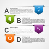 Abstract infographics design template. Royalty Free Stock Images