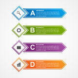 Abstract infographics design template. Royalty Free Stock Image