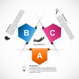 Abstract infographics design template. Stock Photography