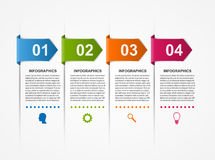 Abstract infographics design template. Stock Photo