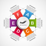 Abstract infographics design template. Stock Image
