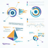 Abstract infographics elements. Royalty Free Stock Photos