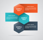 Abstract infographics with hexagon Royalty Free Stock Photos