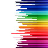 Abstract infographics horizontal rainbow gradient Royalty Free Stock Image