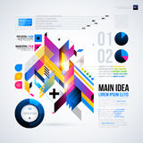 Abstract infographics layout with glossy geometric elements. Stock Photos