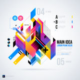 Abstract infographics layout with glossy geometric elements. Royalty Free Stock Photography