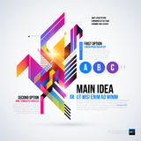 Abstract infographics layout with glossy geometric elements. Royalty Free Stock Images