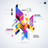 Abstract infographics layout with glossy geometric elements. Stock Image