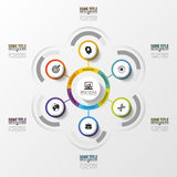 Abstract infographics. Modern design template with circles. Vector Royalty Free Stock Photo