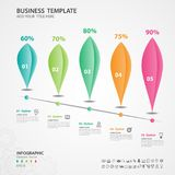 Abstract infographics number options template, chart, diagram, slide, graph vector. Abstract infographics number options template, Vector illustration, 5 step Royalty Free Stock Photo