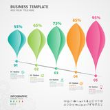 Abstract infographics number options template, chart, graph, diagram, timeline  Vector. Abstract infographics number options template, Vector illustration, 5 Royalty Free Stock Photos