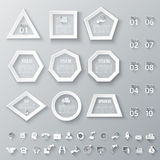 Abstract infographics number options template. Set of geometric shapes for infographic. Template for diagram, graph, presentation and chart. Set of business Royalty Free Stock Images