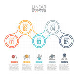Abstract infographics number options template. Thin line flat elements for infographic. Template for diagram, graph, presentation and chart. Business concept stock illustration