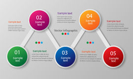 Abstract infographics number options template. Vector. Can be used for workflow layout, diagram, number options, web design Stock Images