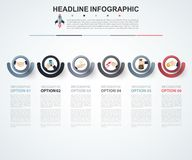 Abstract infographics number options template. Vector illustrati. On. Can be used for workflow layout, diagram, business step option, banner, web design Royalty Free Stock Photos