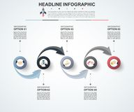 Abstract infographics number options template. Vector illustrati. On. Can be used for workflow layout, diagram, business step options, banner, web design Royalty Free Stock Photos