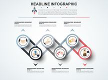 Abstract infographics number options template. Vector illustrati. On. Can be used for workflow layout, diagram, business step options, banner, web design Stock Photo