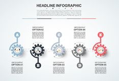 Abstract infographics number options template. Vector illustrati. On. Can be used for workflow layout, diagram, business step option, banner, web design Royalty Free Stock Photography