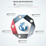 Abstract infographics number options template. Vector illustrati Royalty Free Stock Photos