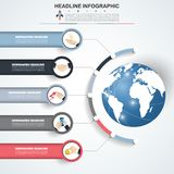 Abstract infographics number options template. Vector illustrati Stock Photography