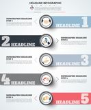 Abstract infographics number options template. Vector illustrati Royalty Free Stock Photo