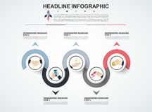 Abstract infographics number options template. Vector illustrati. On. Can be used for workflow layout, diagram, business step options, banner, web design Royalty Free Stock Photo