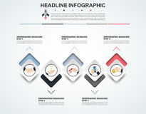 Abstract infographics number options template. Vector illustrati Stock Image