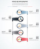 Abstract infographics number options template. Vector illustrati Stock Photo