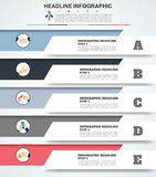 Abstract infographics number options template. Vector illustrati Stock Photos